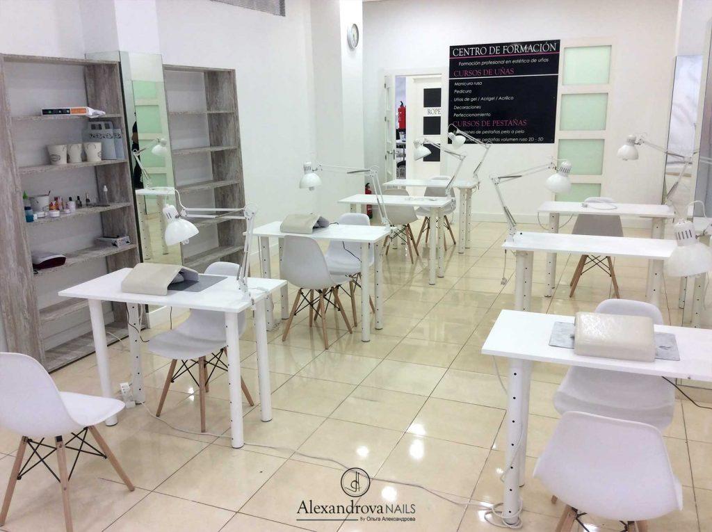 Instalaciones del centro donde se imparten los cursos de uñas de de Alexandrova Nails en Granada