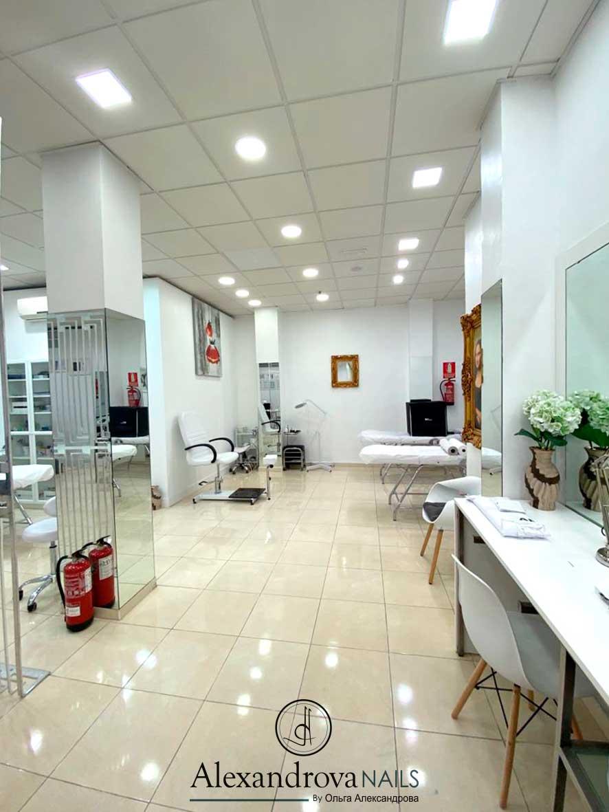 interior del salón de belleza y centro de estética en Granada cerca de mi
