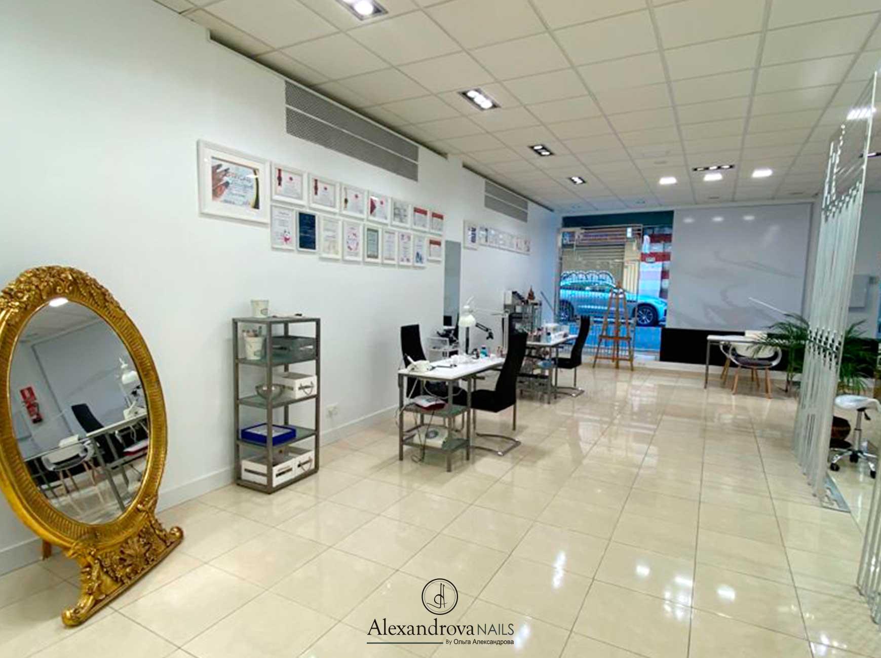 espacio interior en el salón de belleza en Granada cerca de mi